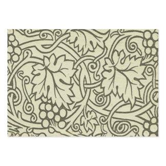 Diseño elegante de Nouveau del arte de la vid del Tarjetas De Visita Grandes