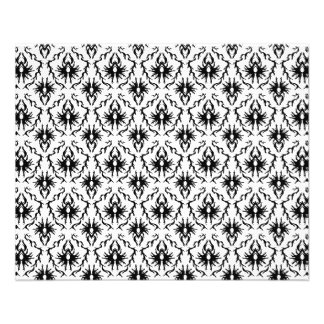 Diseño elegante del damasco, blanco y negro. tarjeta publicitaria