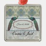 diseño elegante del damasco y del peafowl del pavo ornamentos para reyes magos