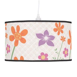 Diseño elegante del estampado de flores lámpara de techo