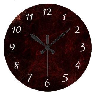 Diseño elegante del extracto del humo y del fuego relojes de pared