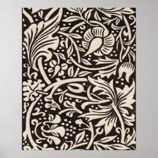 Diseño elegante del nouveau del arte del narciso d impresiones