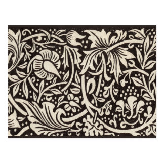 Diseño elegante del nouveau del arte del narciso postal