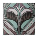 diseño elegante del nouveau del arte del trullo y  teja cerámica