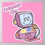 Diseño elegante del ordenador lindo impresiones