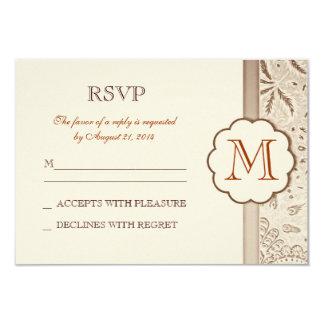 diseño elegante del rsvp del boda del vintage invitación 8,9 x 12,7 cm