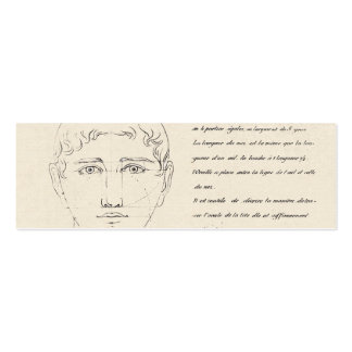 Diseño elegante del vintage de la cara francesa de tarjetas de visita mini