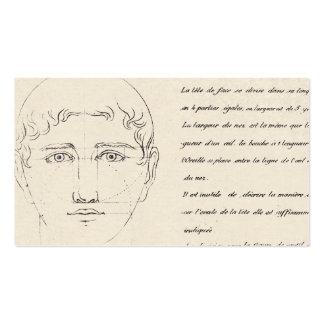 Diseño elegante del vintage de la cara francesa de tarjetas de visita
