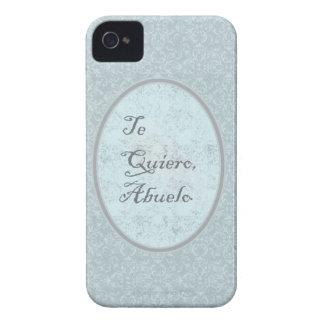 diseño elegante felicitación abuelo iPhone 4 Case-Mate fundas