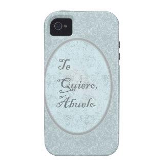 diseño elegante felicitación abuelo Case-Mate iPhone 4 funda