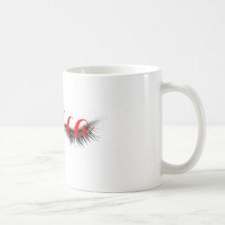 Diseño elegante femenino artsy personalizado de taza básica blanca