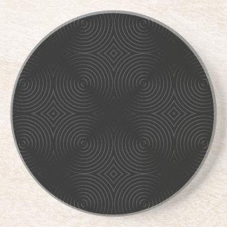 Diseño elegante, negro de los espirales posavasos manualidades