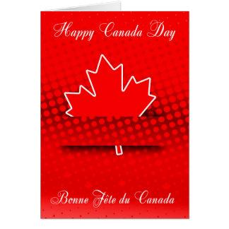 Diseño elegante para el día de Canadá en francés y Tarjeta De Felicitación