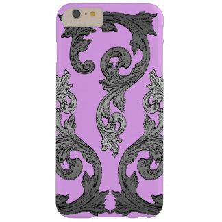 Diseño elegante rosado y gris del gótico funda para iPhone 6 plus barely there