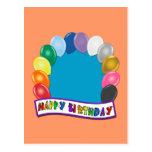 Diseño en blanco del cumpleaños postal