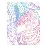 Diseño en colores pastel bonito de Paisley Plantilla De Membrete