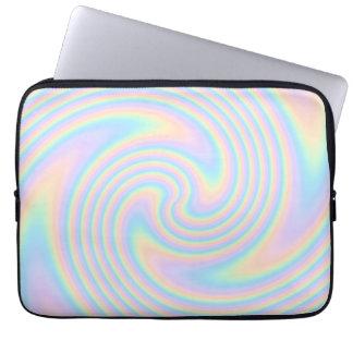 Diseño en colores pastel de la torsión del remolin fundas portátiles