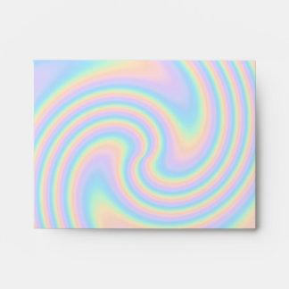 Diseño en colores pastel de la torsión del remolin sobres