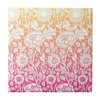 Diseño en colores pastel floral contemporáneo del azulejo cuadrado pequeño