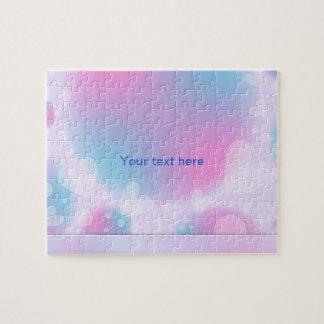Diseño en colores pastel romántico del corazón puzzle