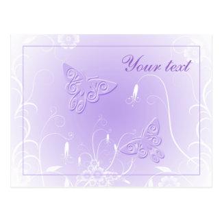 Diseño en colores pastel suave de la mariposa tarjetas postales