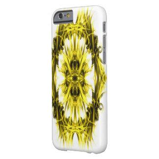 Diseño en la cubierta amarilla de IPhone 6 Funda Para iPhone 6 Barely There