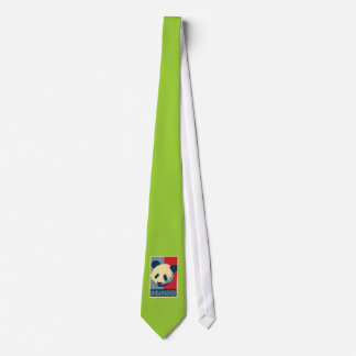 Diseño en peligro del arte pop de la panda corbata personalizada