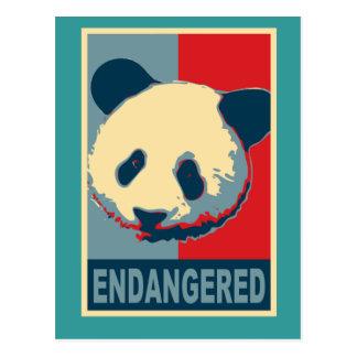 Diseño en peligro del arte pop de la panda postales