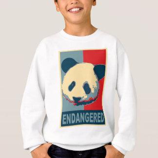 Diseño en peligro del arte pop de la panda sudadera