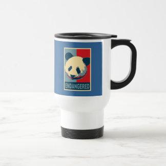 Diseño en peligro del arte pop de la panda taza