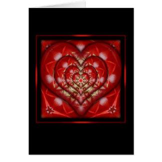 Diseño encajonado del corazón tarjeta de felicitación