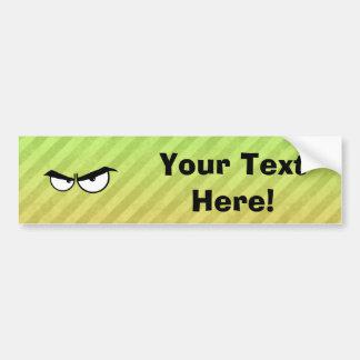 Diseño enojado de los ojos etiqueta de parachoque