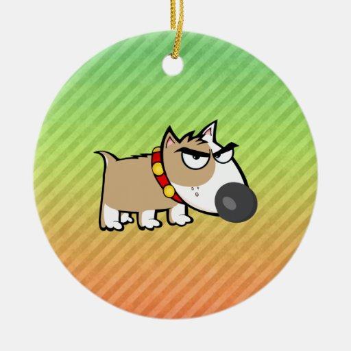 Diseño enojado del perro ornamentos de reyes