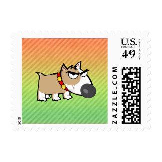 Diseño enojado del perro sello