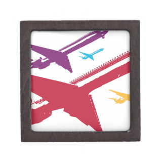 Diseño enojado retro del vuelo del jet del aeropla caja de regalo de calidad