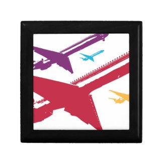 Diseño enojado retro del vuelo del jet del aeropla cajas de regalo