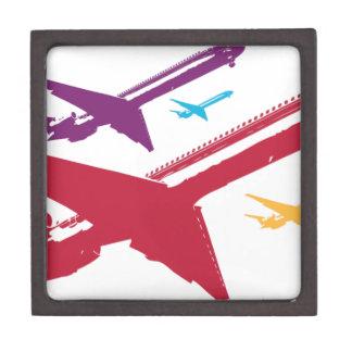 Diseño enojado retro del vuelo del jet del aeropla cajas de regalo de calidad