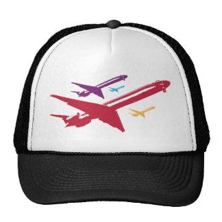 Diseño enojado retro del vuelo del jet del aeropla gorras de camionero