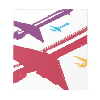 Diseño enojado retro del vuelo del jet del aeropla libreta para notas