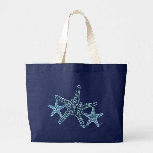 Diseño enorme de las estrellas de mar de la bolsa