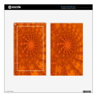 Diseño enorme del fractal de los tonos de Brown y Skins Para Kindle Fire