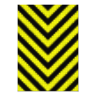"""Diseño enrrollado de las rayas del peligro invitación 3.5"""" x 5"""""""
