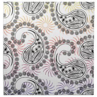 Diseño enrrollado de Paisley del molinillo de Servilleta De Papel