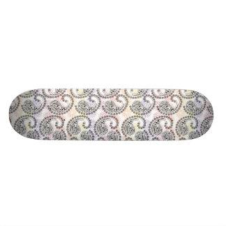 Diseño enrrollado de Paisley del molinillo de Skate Boards