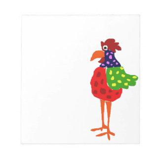 Diseño enrrollado del arte popular del gallo blocs de papel