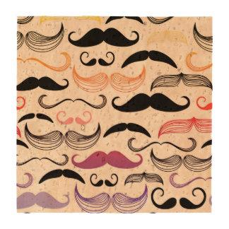 Diseño enrrollado del bigote del arco iris posavasos
