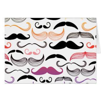 Diseño enrrollado del bigote del arco iris tarjeta de felicitación