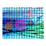 Diseño enrrollado del extracto de los rayos postal