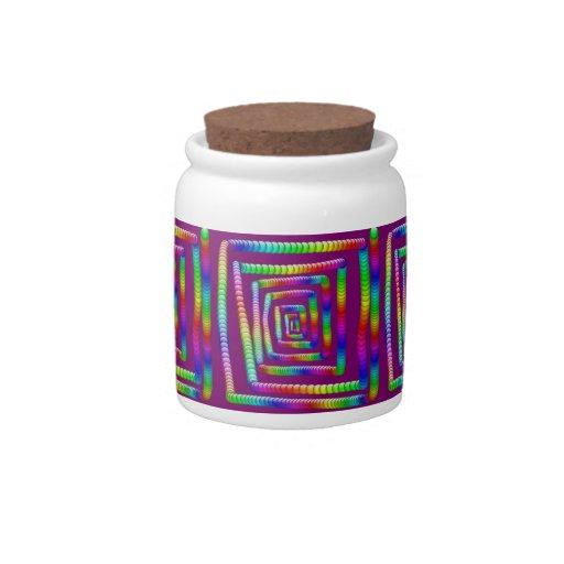 Diseño enrrollado fresco de los mármoles del balan jarras para caramelos
