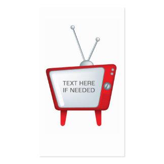 diseño enrrollado fresco para un estilo retro TV Tarjetas De Visita